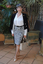 Fabulous Fifty Animal Print Pencil Skirt White