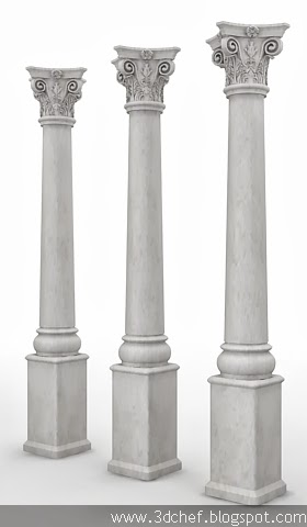 pillar 3d model free