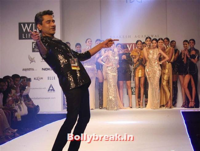 Rakesh Agarwal, Shilpa Shetty walks at Wills India Fashion Week 2014