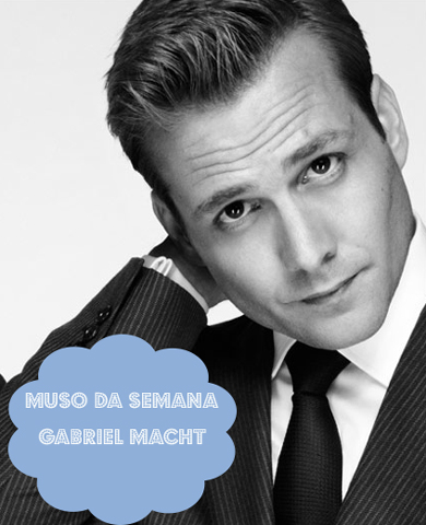 Gabriel Macht como o personagem Harvey Specter em Suits (photo credit: Nigel Parry)