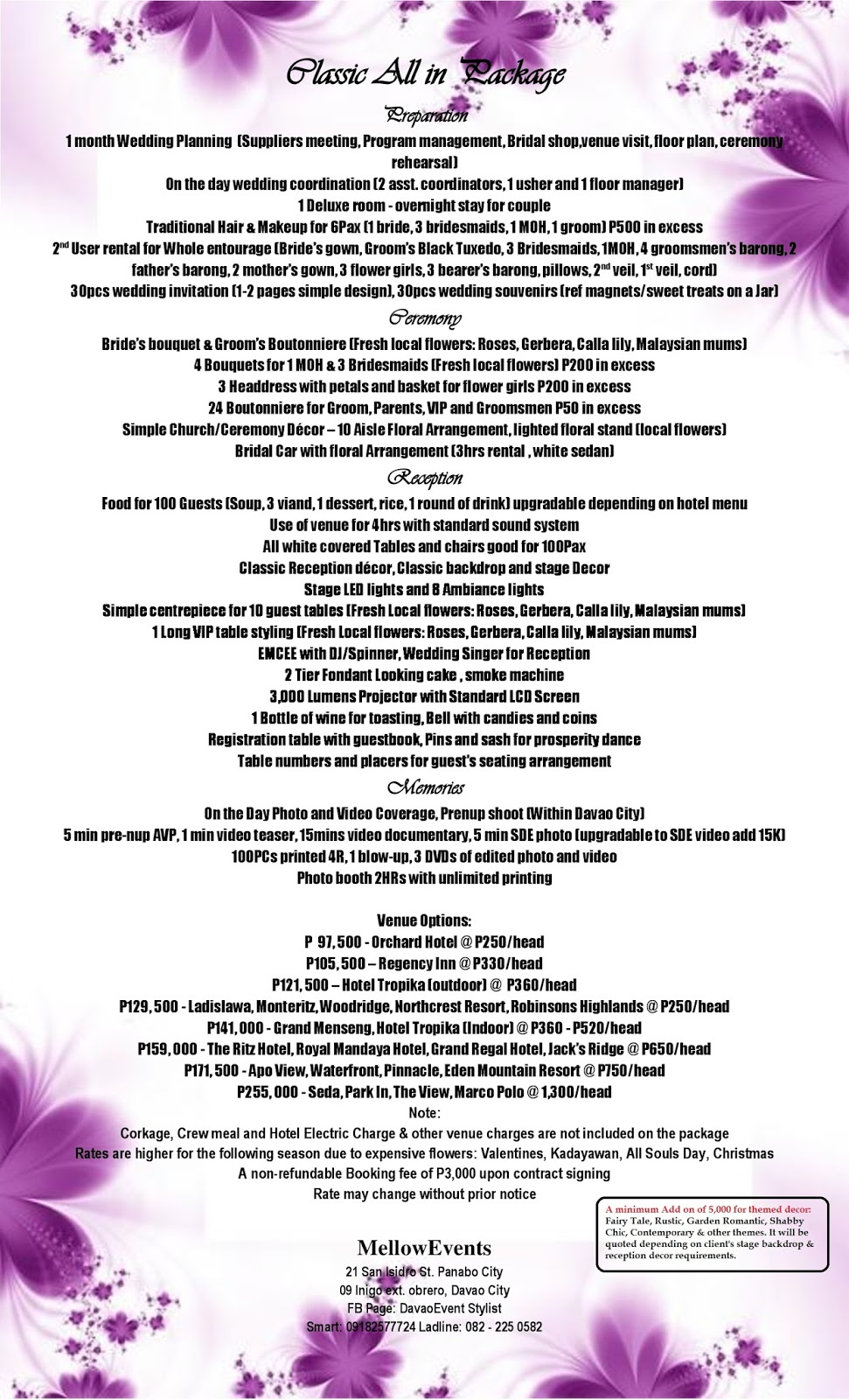 Complete Wedding Package Mellow Flowers And Events
