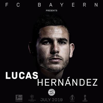 RASMI SASA, FC BAYERN WAMSAJILI BEKI LUCAS HERNANDEZ KUTOKA ATLETICO MADRID