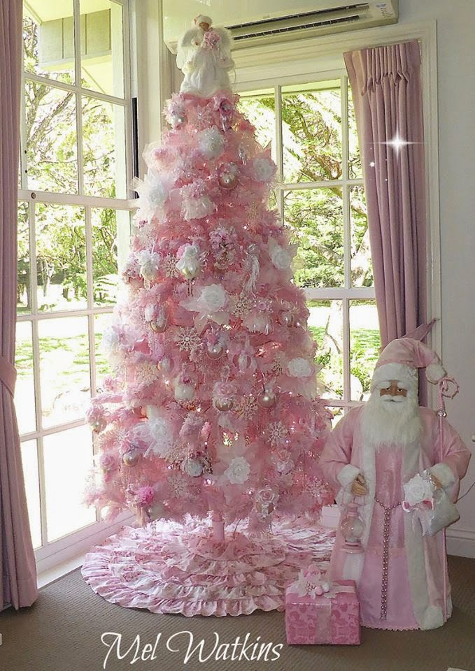 Pink Christmas Trees.Olivia S Romantic Home Mel S Pink Christmas Home Tour