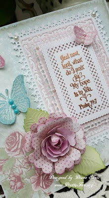 ODBD Shabby Rose Paper Collection, ODBD Grace's Hope, ODBD Custom Lavish Layers Dies, ODBD Butterfly and Bugs, ODBD Custom Butterfly and Bugs Dies, ODBD Trois Jolies Papillons, ODBD Custom Trois Papillons Dies, ODBD Custom Pretty Posies Dies, ODBD Customer Card of the Day by Diane Shull