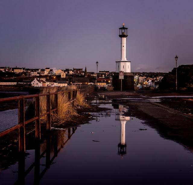 Photo of Maryport Lighthouse at dusk