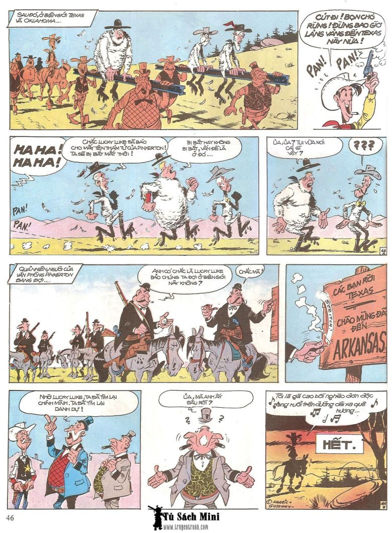 Lucky Luke tap 16 - jesse james hiep si rung xanh trang 48