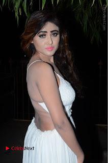 Telugu Actress Model Sony Charishta Pos in White Long Dress at Nanna Nenu Na Boyfriends Audio Launch  0009.JPG