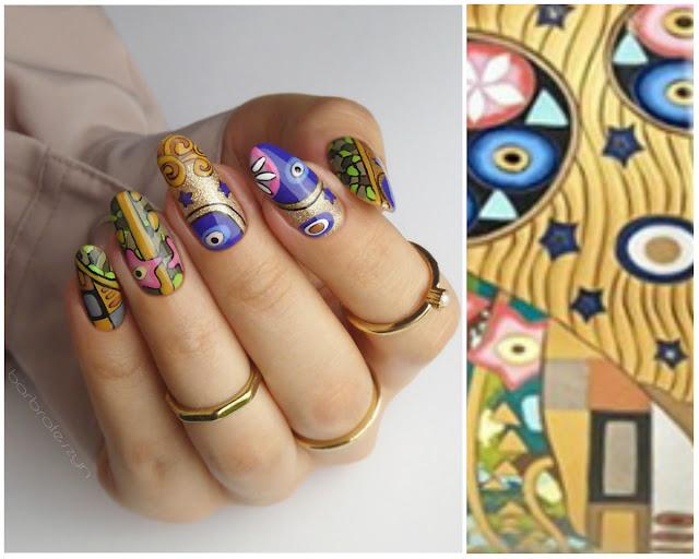 piękne zdobienie paznokci