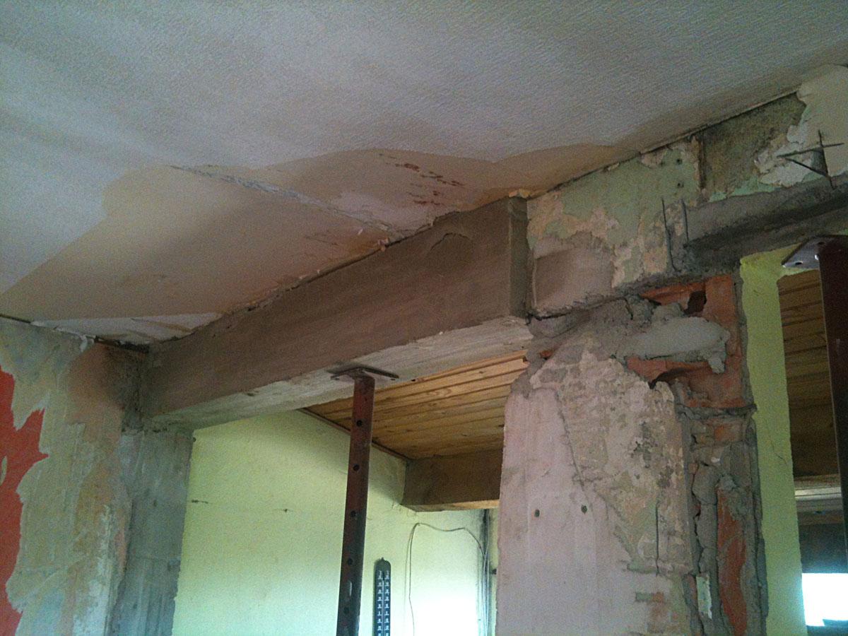 r novation de ma maison couler un linteau et casser un mur porteur 3. Black Bedroom Furniture Sets. Home Design Ideas