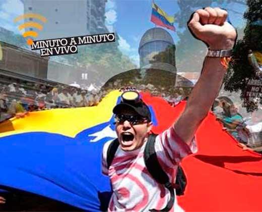 ¡EN VIVO! Sigue aquí todas las incidencias de la marcha de la oposición de este #19Abril (+Video