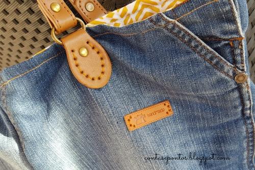 Jeans Bag - saia de ganga que virou mala