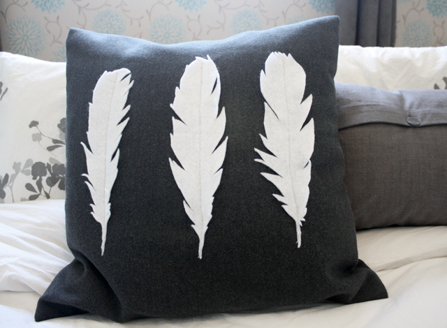 key and quill diy feather pillow. Black Bedroom Furniture Sets. Home Design Ideas