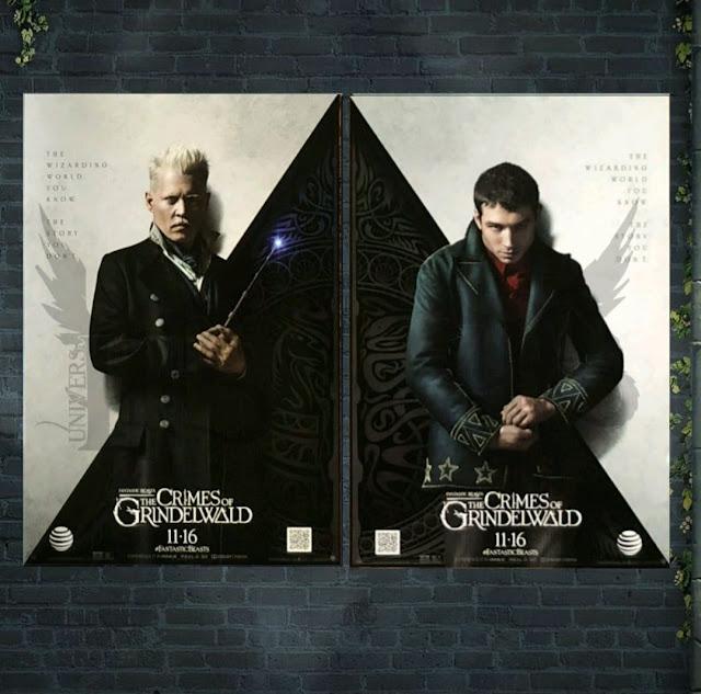 Pôster AT&T de 'Os Crimes de Grindelwald' | Grindelwald e Credence | Ordem da Fênix Brasileira
