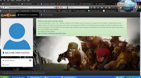 Ciri-ciri Web Phishing Clash Of Clans yang Harus Diwaspadai