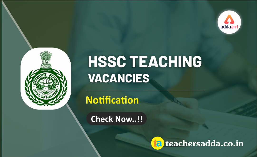 HSSC 2019: 3827 PGT Teaching Vacancies Out | Check Now