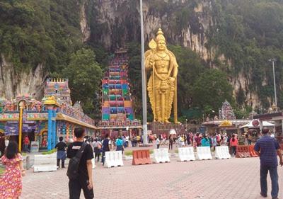 Batu Cave di Selangor utara Kuala Lumpur