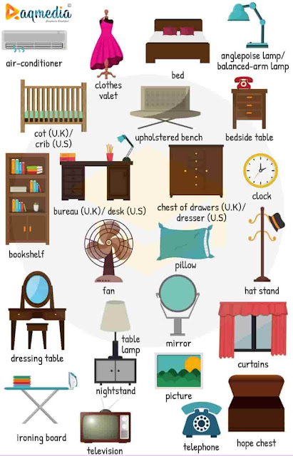 Bedroom-Furniture-Names-worksheet-1