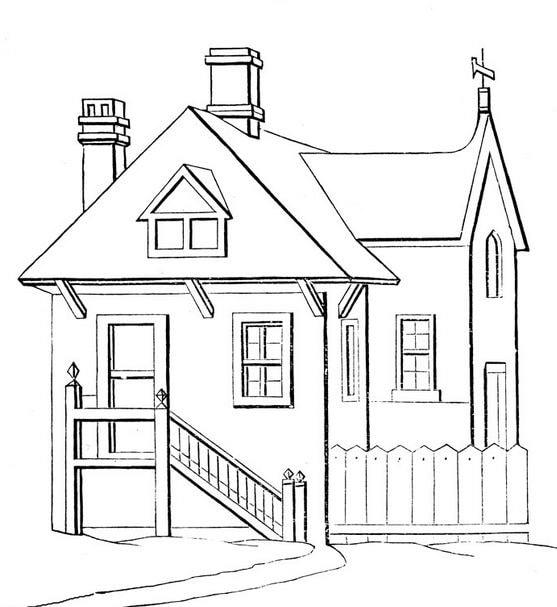 Pola Gambar Rumah Untuk Mewarnai Gambar Mewarnai