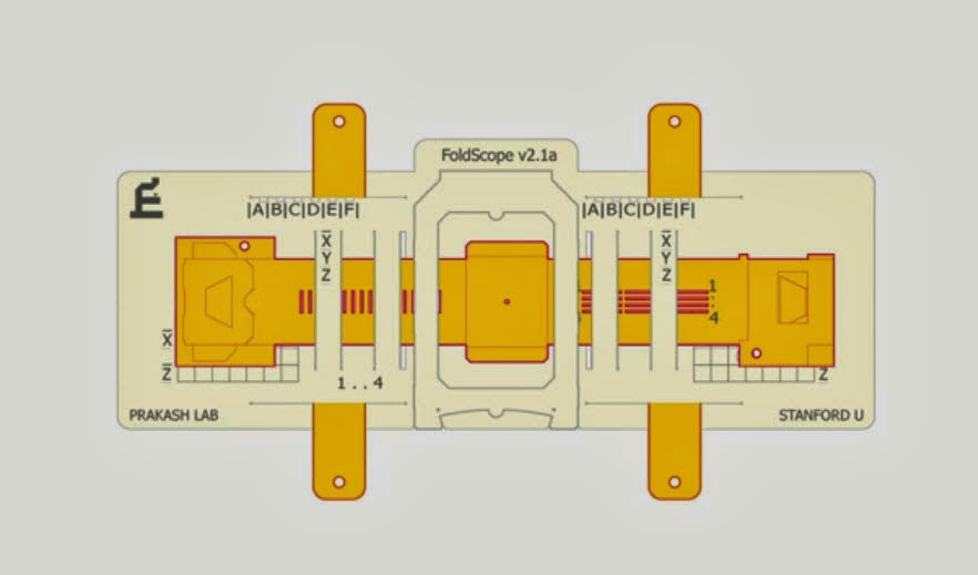 foldscope paper microscope design