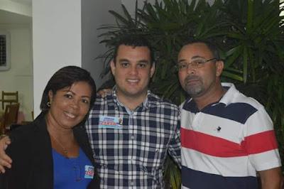 Alagoinhas: vereador Jorge da Farinha e Marismonica Gonsalves comemoram reeleição de Alex Lima