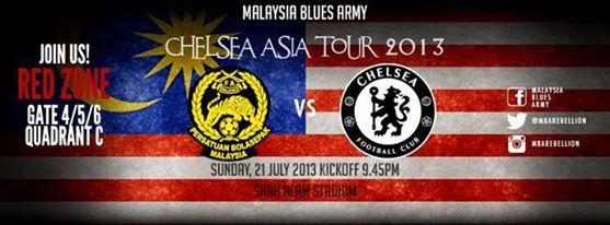 SIARAN LANGSUNG MALAYSIA LAWAN|VS CHESEA 21 JULAI 2013