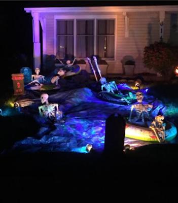 Deadly Halloween ocean scene