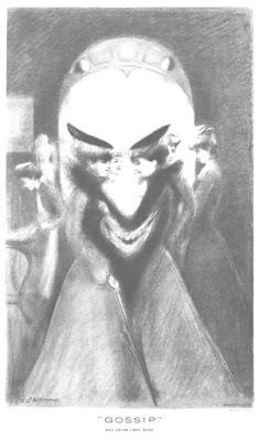 Gossip and Satan Came Also, metamorphic art