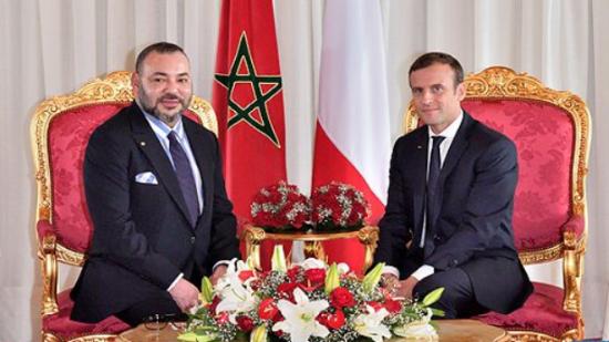 """الملك محمد السادس والرئيس الفرنسي في أول رحلة لـ """"البراق"""" من طنجة إلى الرباط"""