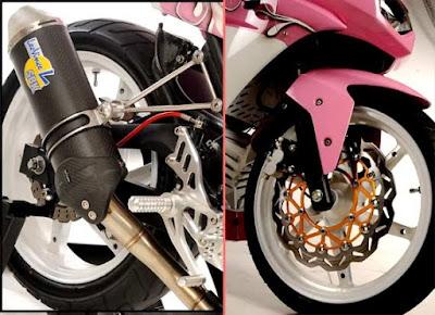 Tampil Stylish Dengan Velg Motor Berwarna Genit