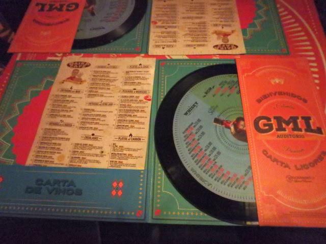 The menu at Gaira Café, Bogota, Colombia