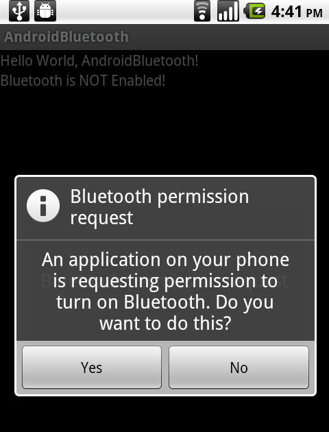 Android-er: Turn-On BlueTooth using intent of