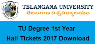 tu ug 1st year hall tickets 2017 download