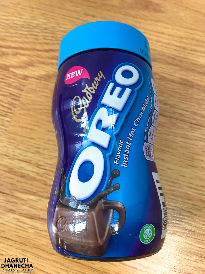 Cadnury oreo instant hot chocolate is new in the market and absolutely delicious.