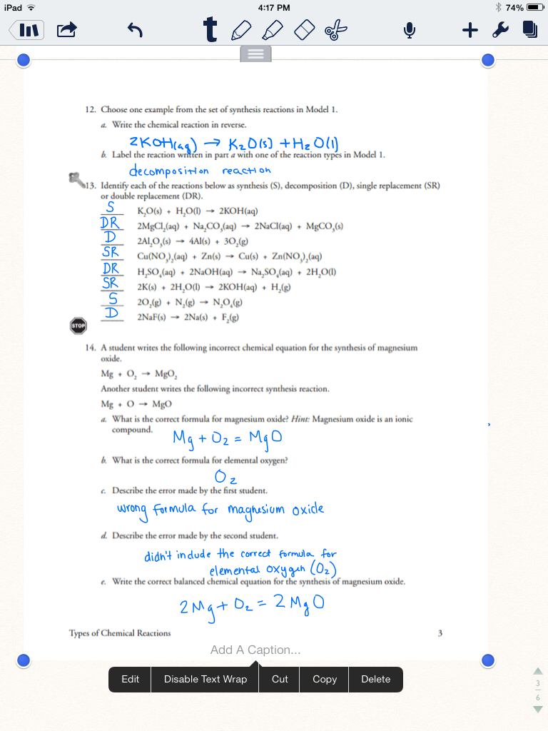 Worksheets: Science Review: Chemical Vs. Physical ...