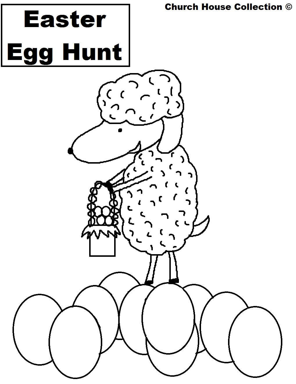 church house collection blog  easter egg hunt coloring page