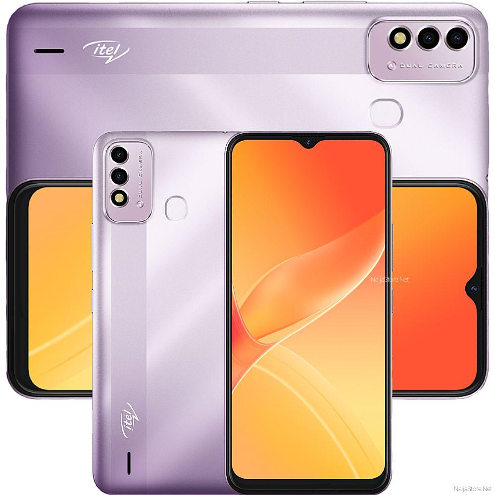 Itel P37 Smartphone - Specs: 5000mAh Battery, 6.5Inch HD+ Screen, Android 10; 32GB/2GB Memory, Tri-Cam, 4G, Fingerprint/Face-ID Security