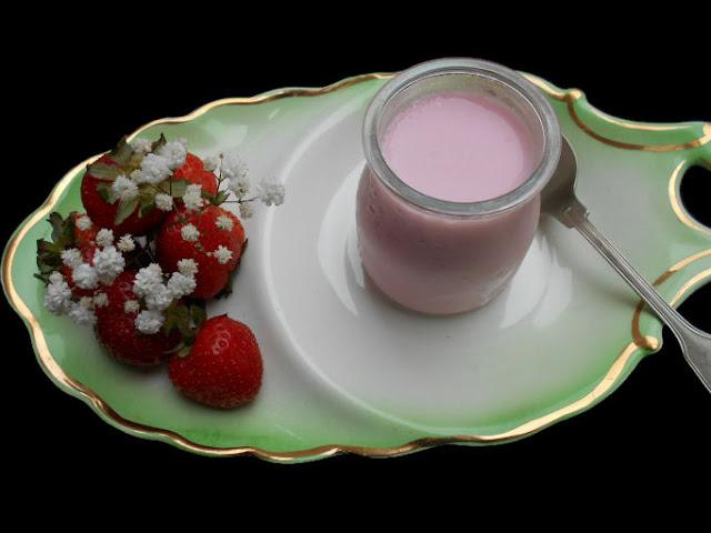 iogurte gelatina de morango