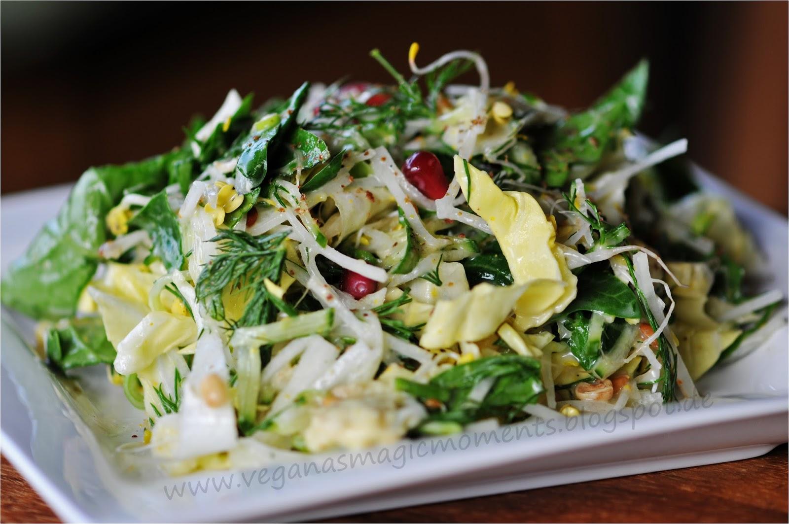 veganas magic moments milchsaurer wirsing an blumenkohl selleriestampf mit gemischtem salat mit. Black Bedroom Furniture Sets. Home Design Ideas