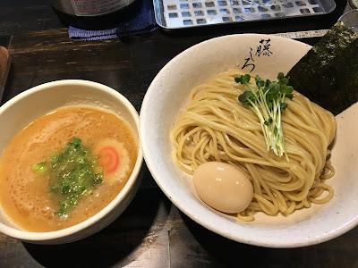 三軒茶屋にある麺屋藤しろのつけ麺(味玉トッピング)