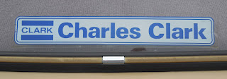 Charles Clark window sticker