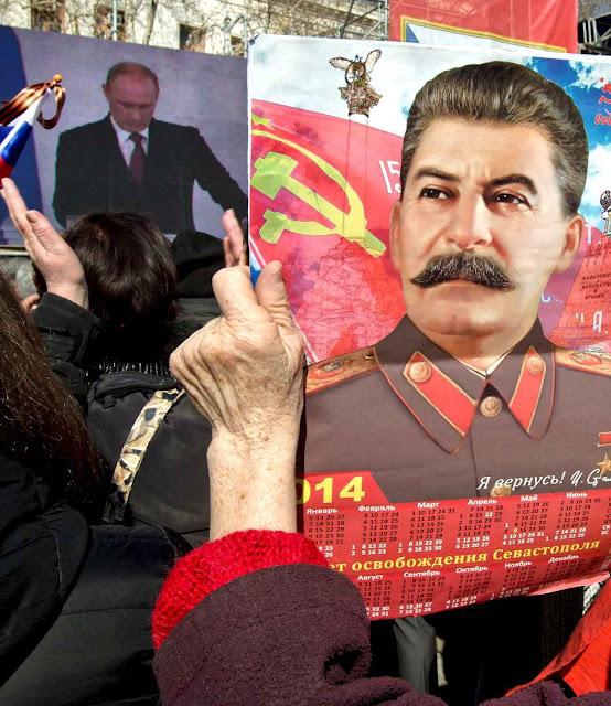 Putin adora ser comparado com Stalin, seu modelo.
