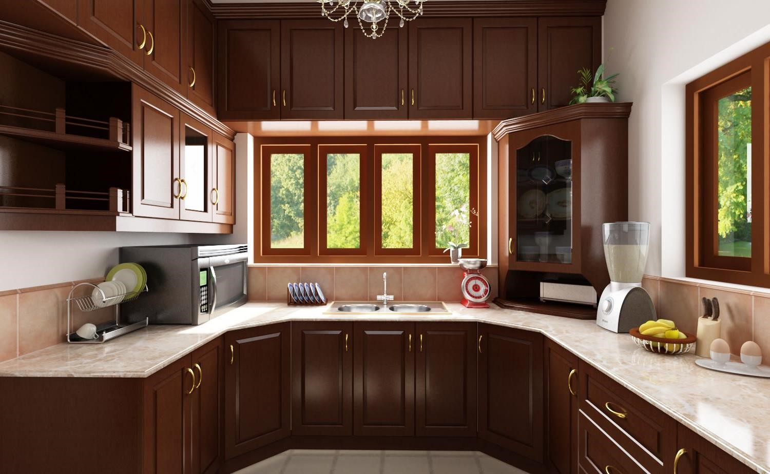 Traditional kitchen design on formality and functionality for Traditional indian kitchen pictures