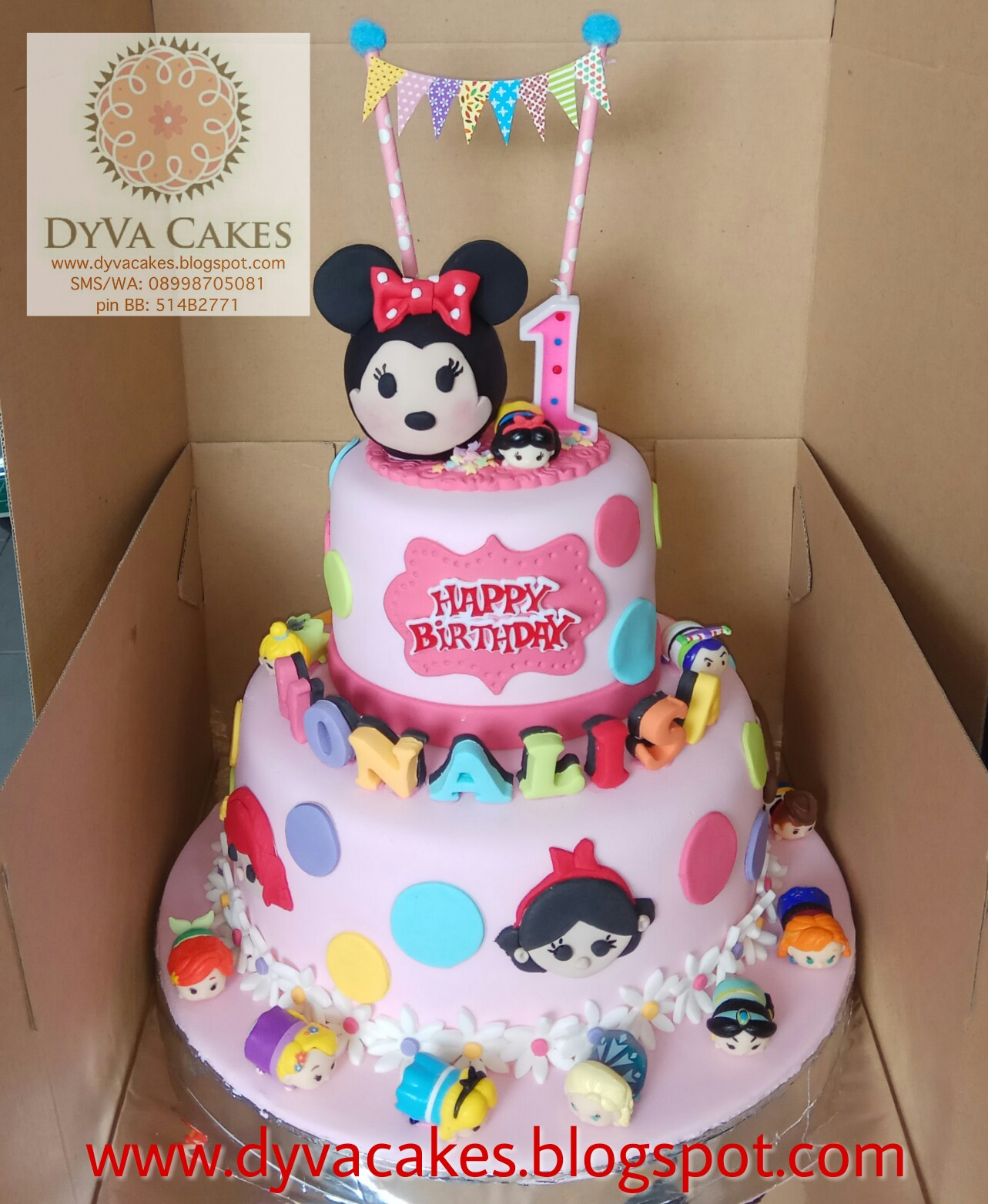 DyVa Cakes Pink Tsum Tsum Birthday Cake