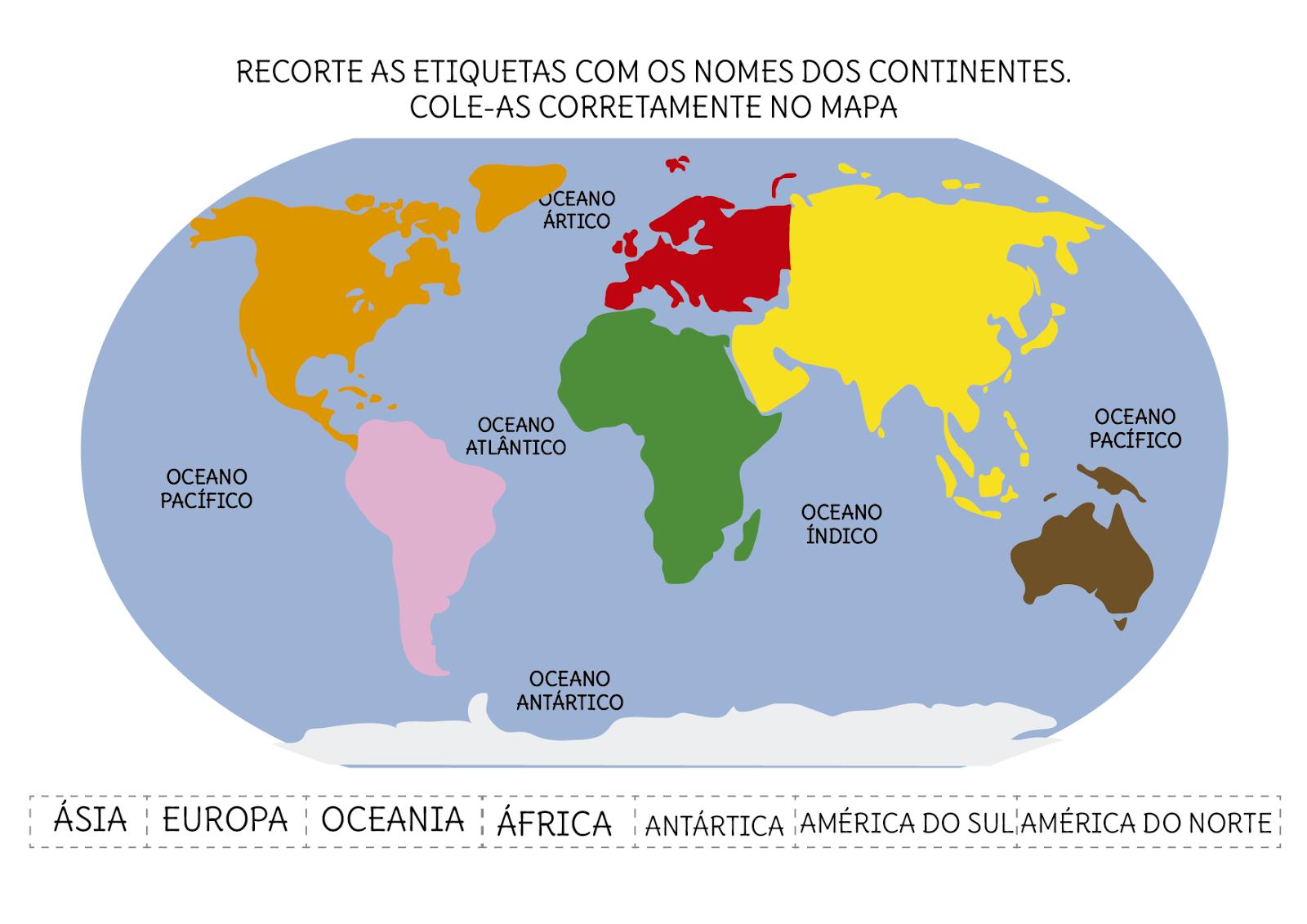 Cuales Son Los 6 Continentes Del Planisferio: Notebook Da Profª: Introdução à Geografia (Parte III