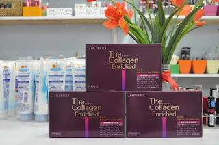 collagen shiseido enriched dạng nước uống - hộp 10 lọ 50ml