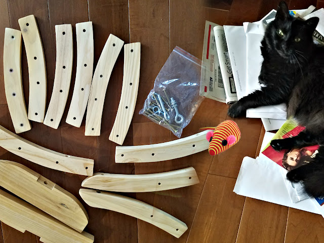 Assembling the Pet Magasin cat hammock by barbies beauty bits
