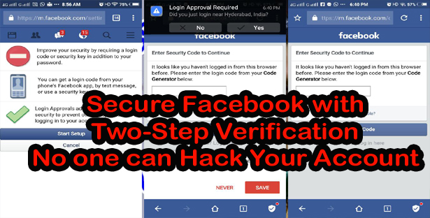 Secure Facebook with Two-Step Verification