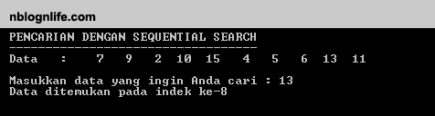 Sequential Search C 1 Nblognlife