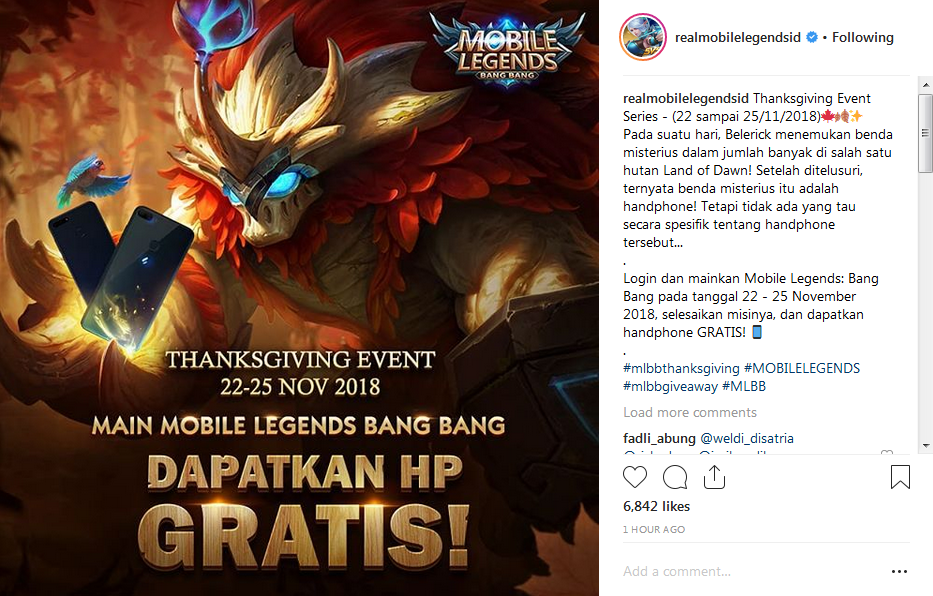 main ml reward hp event thanksgiving