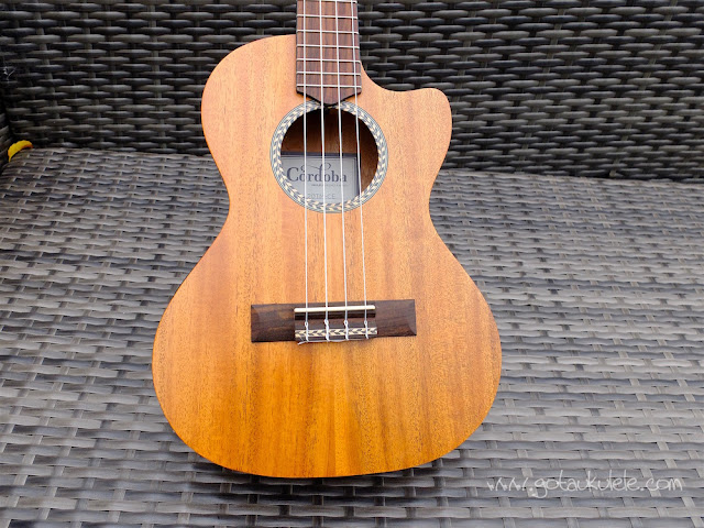 Cordoba 20TM-CE Tenor Ukulele body